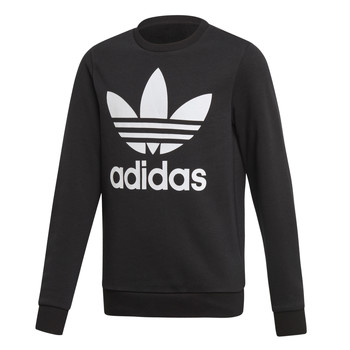 Vêtements Enfant Sweats adidas Originals TREFOIL CREW Noir