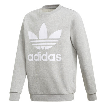 Vêtements Garçon Sweats adidas Originals TREFOIL CREW Gris