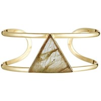 Montres & Bijoux Femme Bracelets Mes-Bijoux.fr Bracelet jonc ouvert laiton doré monté d'une la Doré