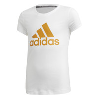 Vêtements Fille T-shirts manches courtes adidas Performance YG MH BOS TEE Blanc