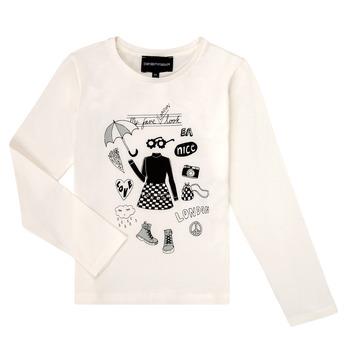 Vêtements Fille T-shirts manches longues Emporio Armani 6H3T01-3J2IZ-0101 Blanc