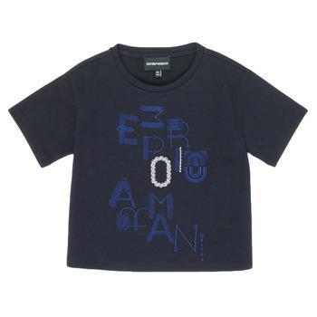 Vêtements Fille T-shirts manches courtes Emporio Armani 6H3T7R-2J4CZ-0926 Marine