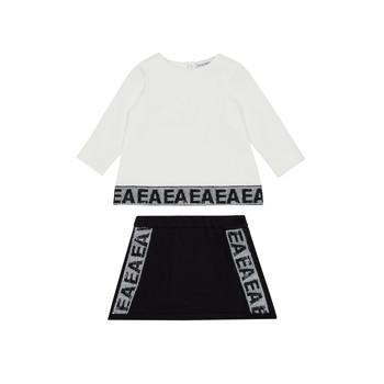 Vêtements Fille Ensembles enfant Emporio Armani 6HEV08-3J3PZ-0101 Blanc / Noir