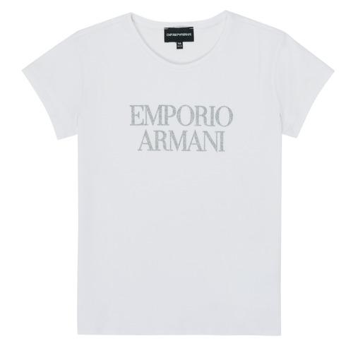 Vêtements Fille T-shirts manches courtes Emporio Armani 8N3T03-3J08Z-0100 Blanc