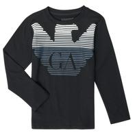 Vêtements Garçon T-shirts manches longues Emporio Armani 6H4T17-1J00Z-0999 Noir