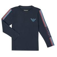 Vêtements Garçon T-shirts manches longues Emporio Armani 6H4TJD-1J00Z-0920 Marine