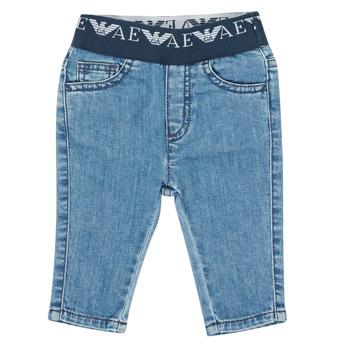 Vêtements Garçon Jeans slim Emporio Armani 6HHJ07-4D29Z-0942 Bleu