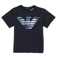 Vêtements Garçon T-shirts manches courtes Emporio Armani 6HHTA9-1JDXZ-0920 Marine