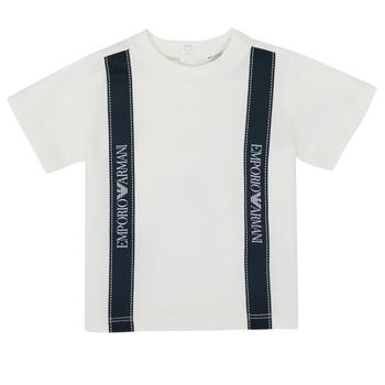 Vêtements Garçon T-shirts manches courtes Emporio Armani 6HHTG4-1JTUZ-0101 Blanc
