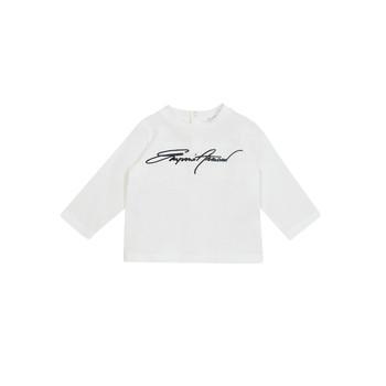 Vêtements Garçon T-shirts manches longues Emporio Armani 6HHTJN-1JTUZ-0101 Blanc