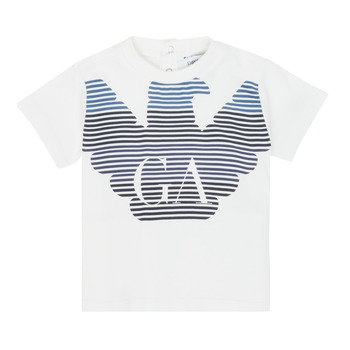 Vêtements Garçon T-shirts manches courtes Emporio Armani 6HHTQ7-1J00Z-0101 Blanc