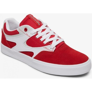 Chaussures Homme Chaussures de Skate DC Shoes KALIS red white Rouge