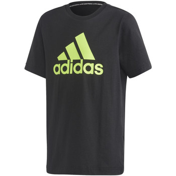 Vêtements Enfant T-shirts manches courtes adidas Originals T-shirt Badge Of Sport noir