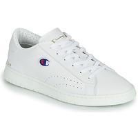 Chaussures Baskets basses Champion COURT CLUB PATCH Blanc / Beige