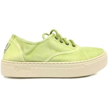 Chaussures Femme Baskets mode Natural World Basket Platform Verte 641-6112E Vert