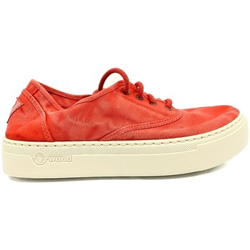Chaussures Femme Baskets basses Natural World Basket Platform Rouge 652-6112E Rouge