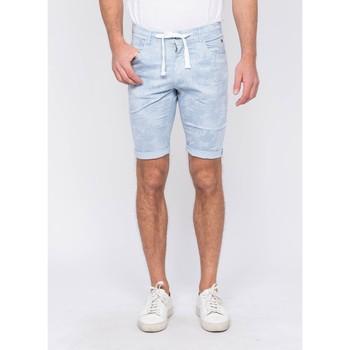 Vêtements Homme Shorts / Bermudas Ritchie Bermuda chino motifs BANLON Bleu ciel