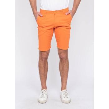 Vêtements Homme Shorts / Bermudas Ritchie Bermuda chino lin BAGOLIN Orange