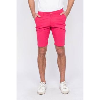Vêtements Homme Shorts / Bermudas Ritchie Bermuda chino lin BAGOLIN Rouge framboise