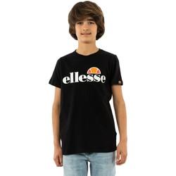 Vêtements Garçon T-shirts manches courtes Ellesse malia black noir