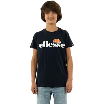 Vêtements Garçon T-shirts manches courtes Ellesse malia navy bleu