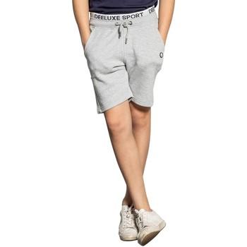 Vêtements Garçon Shorts / Bermudas Deeluxe Short SAIMAN Light Grey Mel