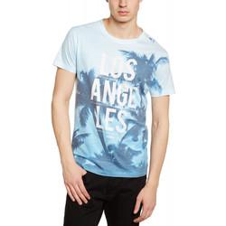 Vêtements Homme T-shirts manches courtes Deeluxe T-Shirt Homme Hacienda Bleu Ciel 19