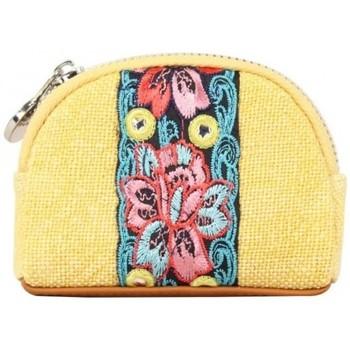 Sacs Femme Portefeuilles Fuchsia Porte monnaie bourse toile déco fleur  Lemon Jaune jaune