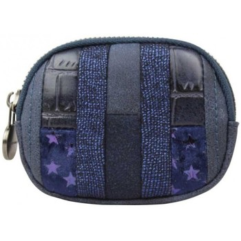 Sacs Femme Porte-monnaie Fuchsia Petit porte monnaie  Elma patchwork croco étoile marine Multicolor