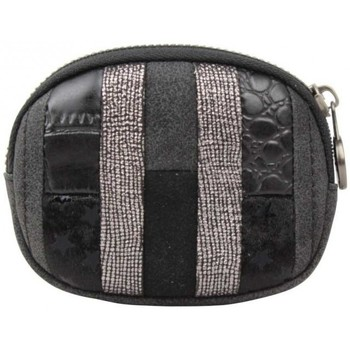 Sacs Femme Porte-monnaie Fuchsia Petit porte monnaie  Elma patchwork croco / étoile noir Multicolor