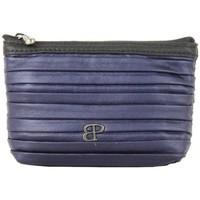 Sacs Femme Porte-monnaie Patrick Blanc Porte monnaie  April imitation motif plissé Bleu Multicolor