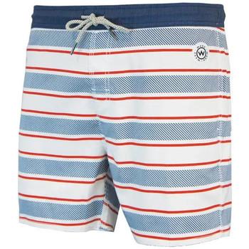 Vêtements Homme Maillots / Shorts de bain Waxx Short de bain STRIPED Blanc
