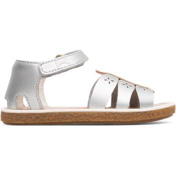 Chaussures Fille Sandales et Nu-pieds Camper Sandales cuir Miko gris