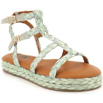 Chaussures Femme Sandales et Nu-pieds Elue par nous Giens vert