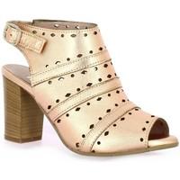Chaussures Femme Sandales et Nu-pieds Pao Nu pieds cuir laminé Rose
