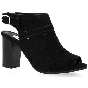 Chaussures Femme Sandales et Nu-pieds Pao Nu pieds cuir velours Noir