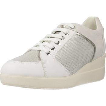 Chaussures Femme Baskets basses Geox D STARDUST B Blanc