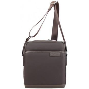 Sacs Homme Pochettes / Sacoches Mac Alyster Pochette (M) nylon garni cuir  Wall Street Marron Multicolor