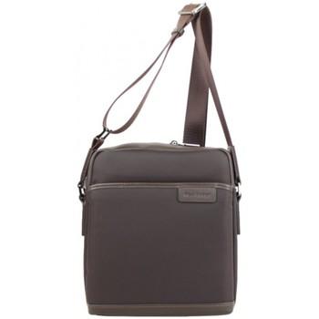 Sacs Homme Pochettes / Sacoches Mac Alyster Pochette (L) nylon garni cuir  Wall Street Marron Multicolor