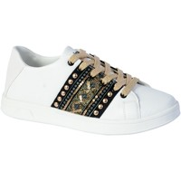 Chaussures Femme Baskets mode Desigual Basket Cosmic Exotic Gold Blanco