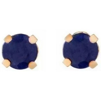 Montres & Bijoux Femme Boucles d'oreilles Mes-Bijoux.fr Boucles d'oreilles Or Jaune 375/1000 et Saphir Doré