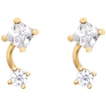 Montres & Bijoux Femme Boucles d'oreilles Mes-Bijoux.fr Boucles d'oreilles Or Jaune 375/1000 et Zirconi Doré