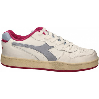Chaussures Femme Baskets basses Diadora MI BASKET LOW USED WN c8546-azzurro-polvere-rosa