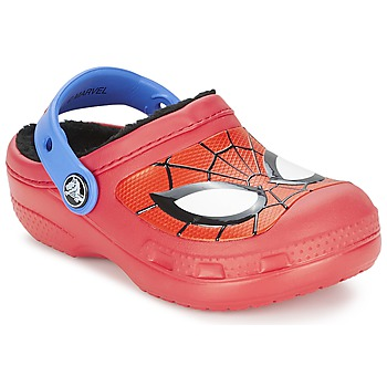 Chaussures Garçon Sabots Crocs SPIDERMAN LINED CLOG RED