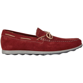 Chaussures Homme Chaussures bateau Geox MOCASSIN U CALAROSSA Rouge