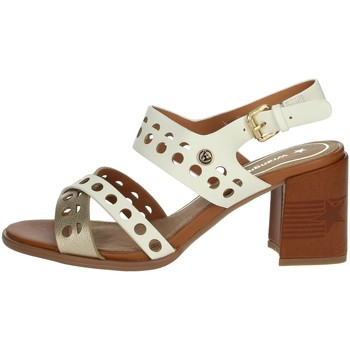 Chaussures Femme Sandales et Nu-pieds Wrangler WL01572A Blanc/Or