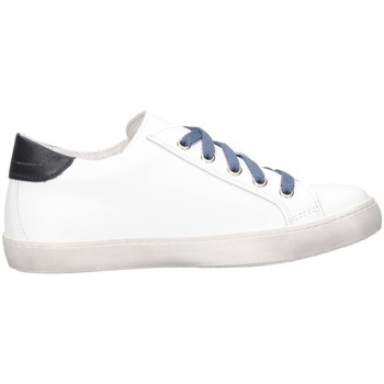 Chaussures Enfant Baskets basses Dianetti Made In Italy I9841B Blanc / Bleu