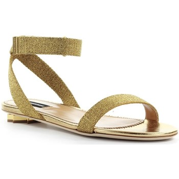 Chaussures Femme Sandales et Nu-pieds Dsquared Sandale Cuir Nappa Or Gold