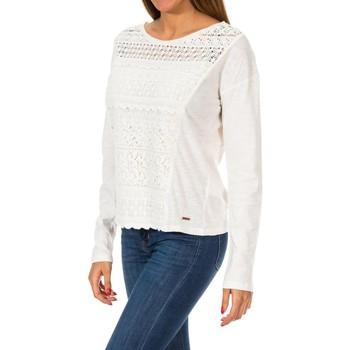 Vêtements Femme Pulls Superdry T-shirt en dentelle à franges Colorado Blanc
