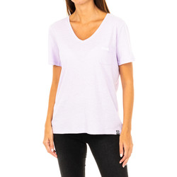 Vêtements Femme T-shirts manches courtes Superdry T-shirt à manches courtes Violet